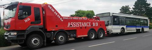 Assistance 24h/24 pour dépannage bus et autocar en Ile de France