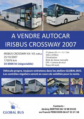 A VENDRE AUTOCAR IRISBUS CROSWAY 2007