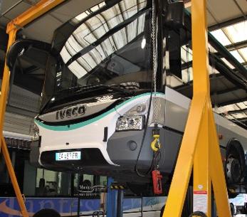 Les équipements des ateliers Global Bus au Perray en Yvelines