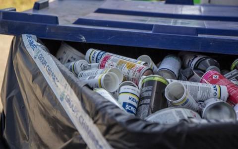 Conteneur de collecte pour recyclage des déchets